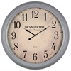 Cooper Classics Asher Clock, Aged French Blue Finish, Under Glass