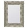 Beauclaire Mirror, Cream Woven Fabric Finish