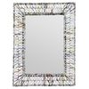 Cooper Classics Malone Mirror, Recycled Newspaper Finish