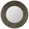 Cooper Classics Ava Mirror, Champagne and Black Finish, Repurposed Sea Shells
