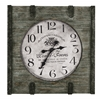 Cooper Classics St. Clair Clock, Distressed Wood Finish