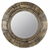 Bellini Mirror, Natural Wood Finish, Beveled Mirror