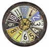 Hildale Clock, Distressed Brown Finish