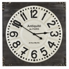 Cooper Classics Talbert Clock, Distressed Dark Wood Finish
