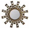 Constance Mirror, Antique Gold Metal Finish