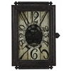 Charest Clock, Aged Black Finish with Brown and Red Undertones, Under Glass