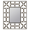 Windfall Mirror, Aged Rusted Brown Finish, Beveled Mirror
