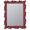 Cooper Classics Cimarron Mirror, Glossy Dark Red Finish, Beveled Mirror