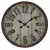 Oleshia Clock, Aged Red Finish with Black Undertones, Under Glass