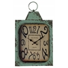 Cooper Classics Stasia Clock, Aged Green Finish with Rusted Brown Undertones, Under Glass