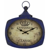 Cooper Classics Galina Clock, Aged Blue Finish with Brown Undertones, Under Glass