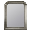 Kwango Mirror, Antique Silver Finish with Black Undertones