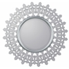 Feye Mirror, Mirrored Frame with Silver Finished Lining, Beveled Mirror