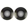 Sashi Mirrors- Set of 2, Dark Gray Finish with Black Undertones, Convex Mirror