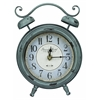 Cooper Classics Mica Table Clock, Aged Turquoise Finish with Black Undertones, Under Glass
