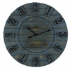 Schell Clock, Ocean Blue Finish with Natural Wood Distressing