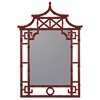 Lilly Mirror, Glossy Red Finish