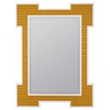Captiva Mirror, Orange Finish with High Gloss White Frame, Beveled Mirror
