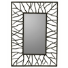 Aysel Mirror, Aged Brown Finish with Rust Highlights, Beveled Mirror