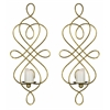 Inca Wall Hanging- Set of 2, Gold Finish