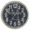 Greenwich Clock, Aged Cream Finish with a Warm Blue Face, Under Glass