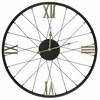 Cooper Classics Dedon Clock, Black Finish with Gold Numbers