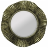 Cooper Classics Robin Mirror, Antique Gold Finish with Black Undertones, Beveled Mirror