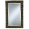 Cooper Classics Peter Mirror, Antique Gold Finish with Black Undertones, Beveled Mirror