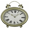 Welsley Table Clock, Gold Finish, Under Glass