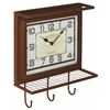 Cooper Classics Griffon Wall Clock, Worn Red Finish with Gray Undertones, Under Glass