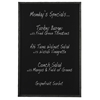 Wendy Chalk Board, Black Metal Finish