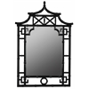 Pagoda Mirror, Glossy Black Finish