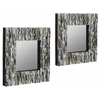 Soto Mirrors- Set of 2, Recycled Magazine Finish