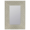 Ashley Mirror, Cream Finish with Rose Highlights, Beveled Mirror