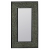 Cannon Mirror, Verdigris Finish with Antique Copper Highlights, Beveled Mirror