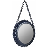 Cooper Classics Minda Mirror, Aged Blue Finish with Rusted Brown Undertones