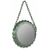 Cooper Classics Kaya Mirror, Aged Sea Green Finish with Rusted Brown Undertones