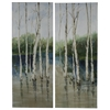 Cooper Classics Forest in the Water- Set of 2, Hand Painted, Textural Paint on Canvas