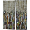 Cooper Classics City Reflections- Set of 2, Hand Painted Textured with Mirrored Glass Embellishments