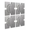 Tupan Mirror- Set of 4, Layered Frameless Mirrors with Silver Outer Lining