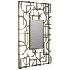 Kami Mirror, Antique Gold Metal Finish, Beveled Mirror