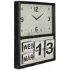Cooper Classics Lencho Clock, Distressed Black Metal Finish, Under Glass