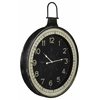 Zocha Clock, Distressed Black Finish, Under Glass