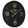 Cooper Classics Jedrak Clock, Aged Black Finish with Gray Undertones, Under Glass