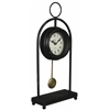 Cooper Classics Oringo Table Clock, Aged Black Finish with Red Undertones, Under Glass