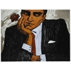 Cooper Classics Mad Man with Flower, Hand Painted on Canvas