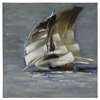 Sail Boat I, Hand Painted, Textural Paint on Canvas