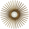Sunburst Mirror, Antique Gold Finish, Convex Mirror