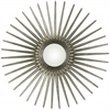 Sunburst Mirror, Antique Silver Finish, Convex Mirror