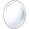 Seymour Oval Mirror, Mocha Finish, Beveled Mirror